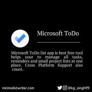 free-online-content-writing-tools-microsoft-todo-list-app