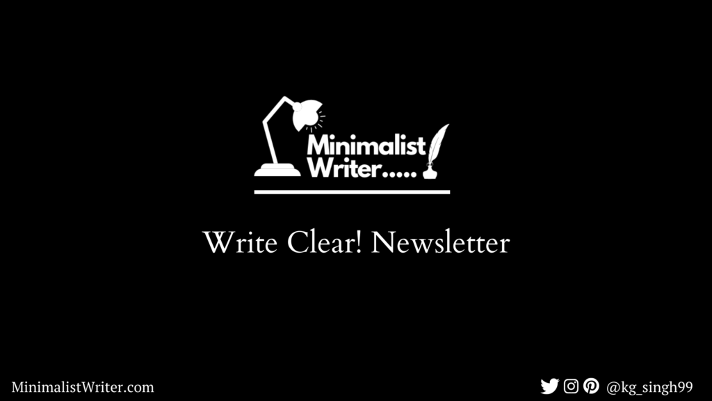 write clear newsletter